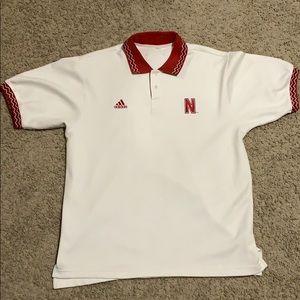 Vintage Nebraska Cornhuskers Polo Adidas